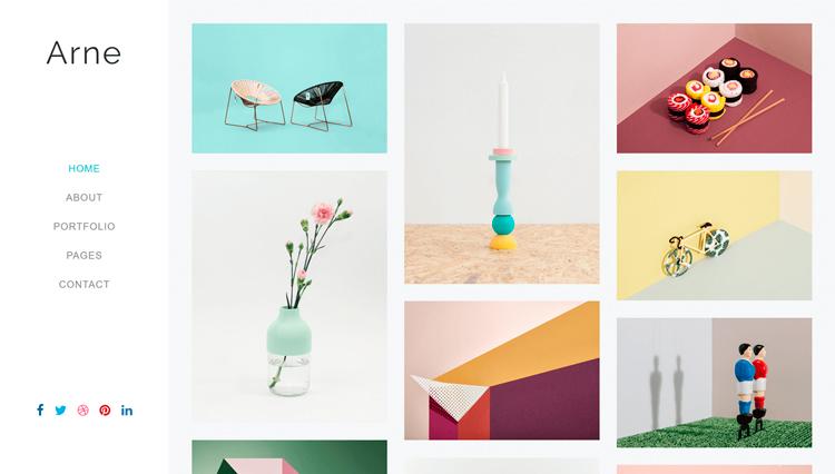 минималистичный сайт интерьерных товаров