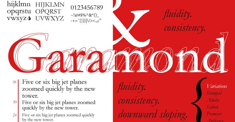 шрифт garamond