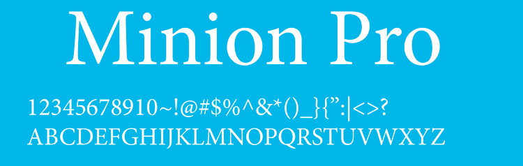 шрифт minion