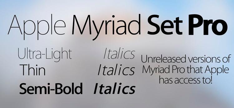 шрифт myriad