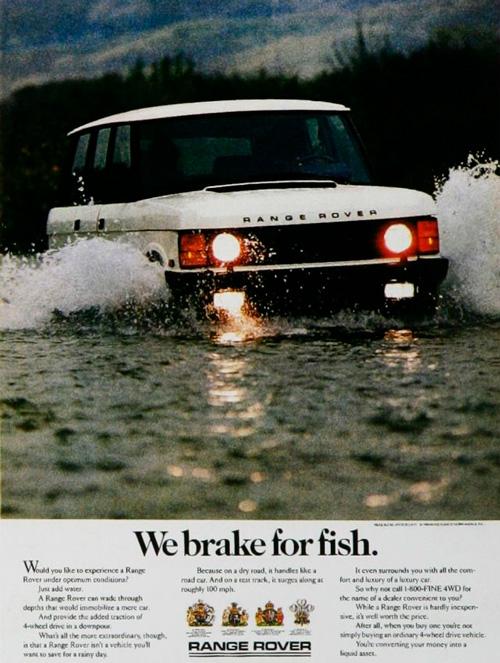 реклама range rover