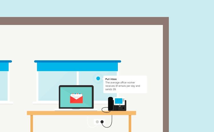 IT-компания AKITA визуально показывает как передается информация через интернет