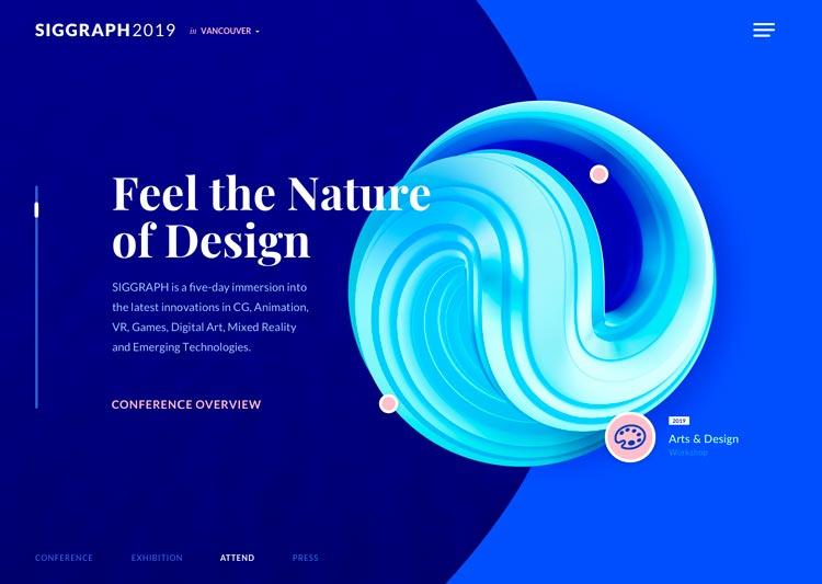 Пример оформления сайта в стиле футуризм
