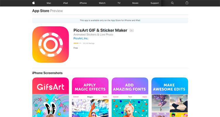 Сайт PicsArt