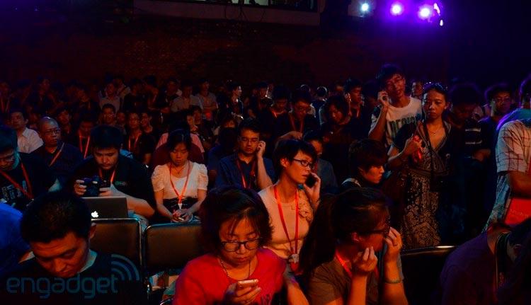 зрительный зал на презентации Xiaomi