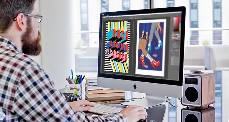 Иллюстратор работает в редакторе